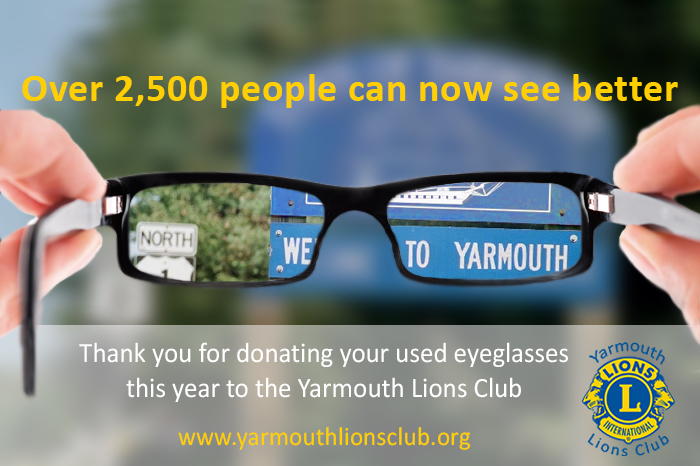 Yarmouth Maine Lions Club Eyeglasses Vision Program