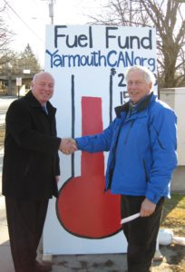 Town Manager, Nat Tupper with Yarmouth Lions Club member, Woody Brown