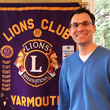 Jim Albright of the Yarmouth, Maine Lions Club