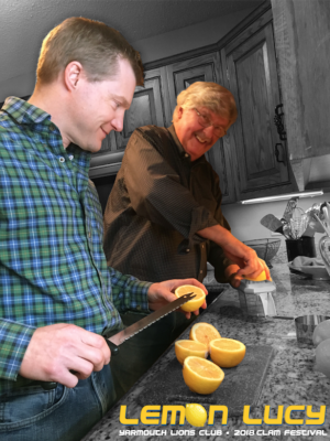 Yarmouth Lions Club members Larry Forcier and Aaron Wilson invent the Lemon Lucy slush drink