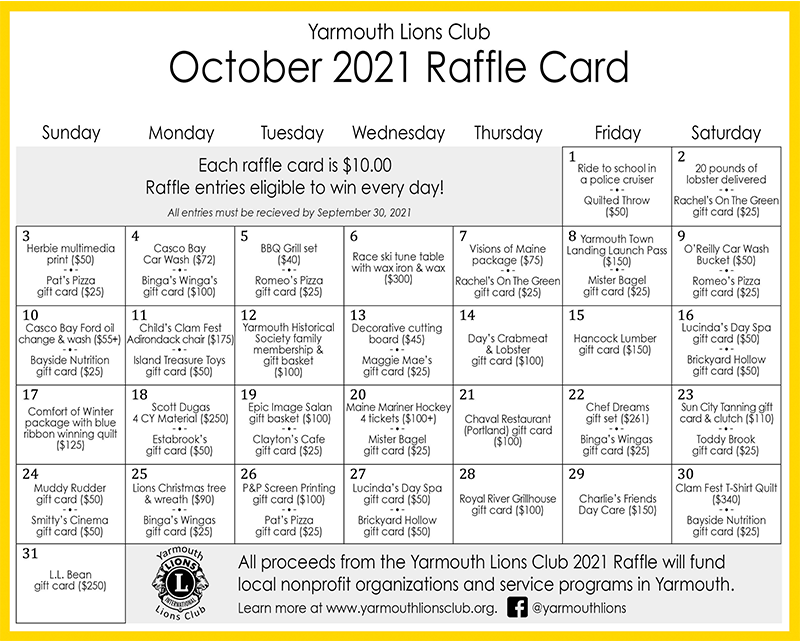 Download The Lions Raffle Card